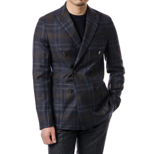 Cherish Tartan Check DoubleBreast Jacket