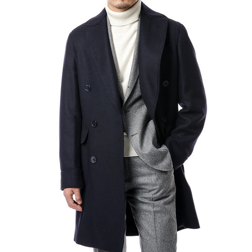 Drago Navy Polo Coat