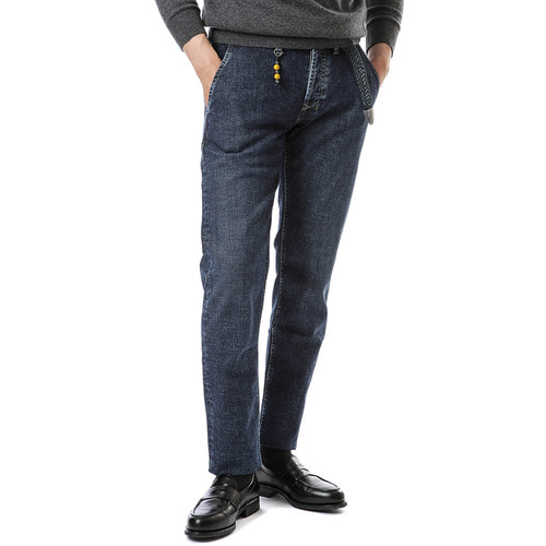 Denim Core Skinny Fit Side Pocket (Dark Blue)