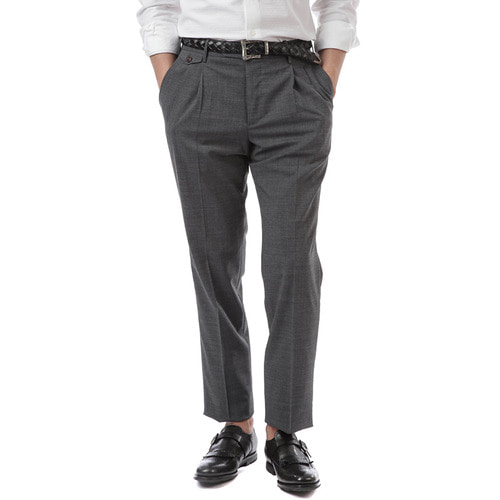BOMBAY Gentleman Fit Wool Slacks (Gray)