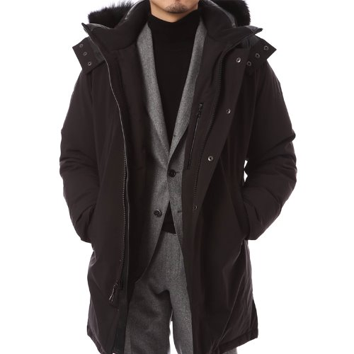 Exclusive Leather Gormley Black Parka
