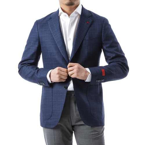 Linen Blue Slab Jacket