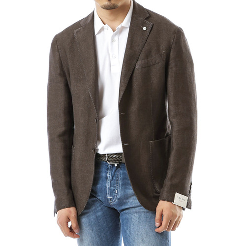 Dark Brown Cotton Tweed Jacket