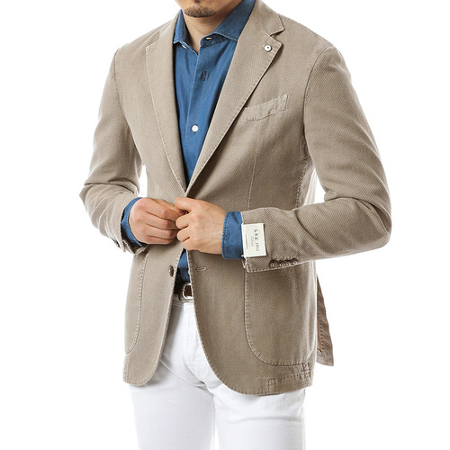 Beige Cotton Tweed Jacket