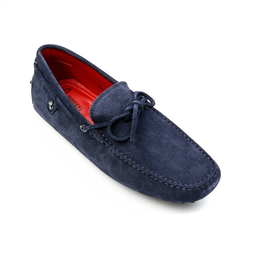 Tod's for Ferrari New Gommino Driving Shoes in Suede (Navy)