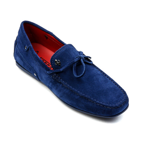 Tod's for Ferrari City New Gommino Driving Shoes in Suede (Blue)