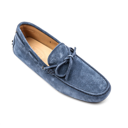 Laccetto city gommino Suede Driving Shoes (Sky blue)