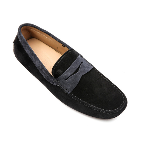 New Gommino Suede Moccains (Black, Gray)