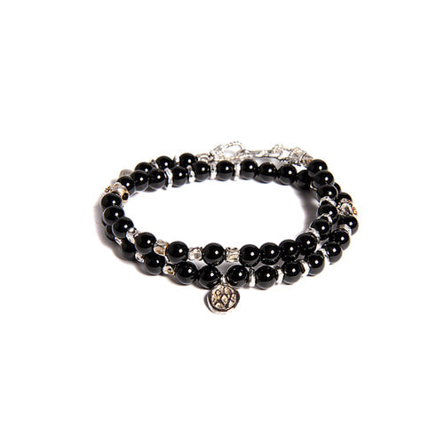 Skull Onyx Double Layered Bracelet