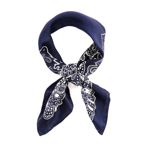 Hand Rolling_Sean Petit Scarf Navy