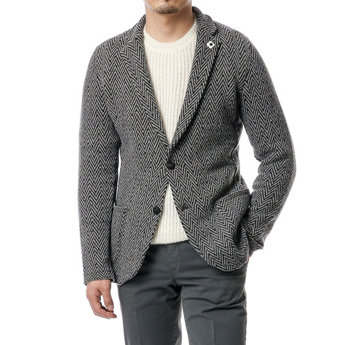 Herringbone Jersey Jacket