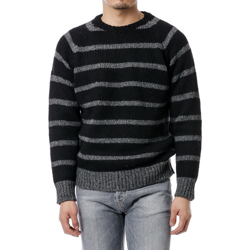 Black Stripe Alpaca Knit