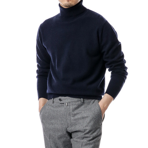 Cashmere Purity Navy Turtleneck