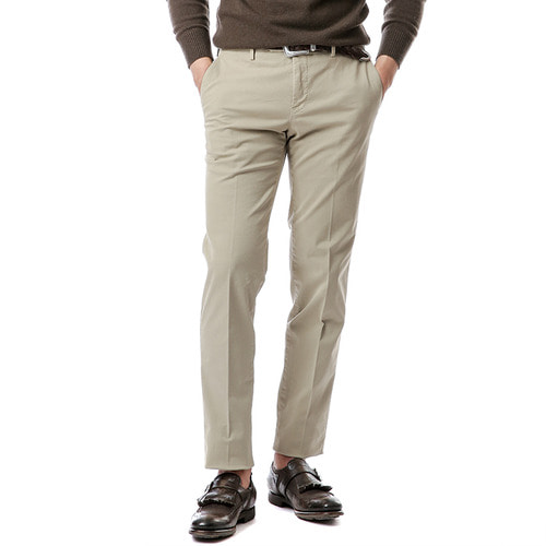 Welton Slim Stretch Pants (Beige)