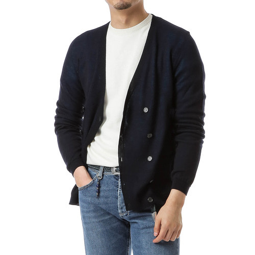 Double Allowed Navy/Sky Cardigan