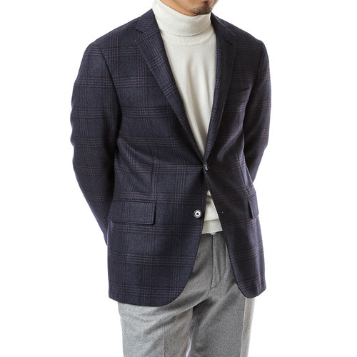Navy Splendid Overcheck Jacket