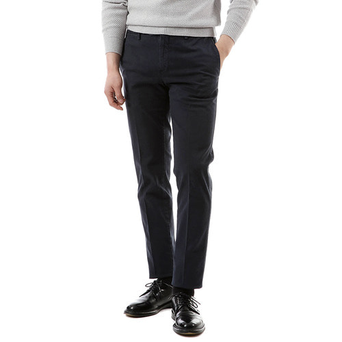 Super Slim Cotton Pants (Navy)