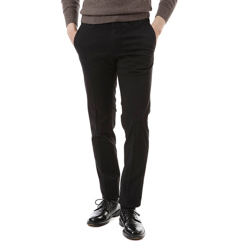 Super Slim Cotton Pants (Black)