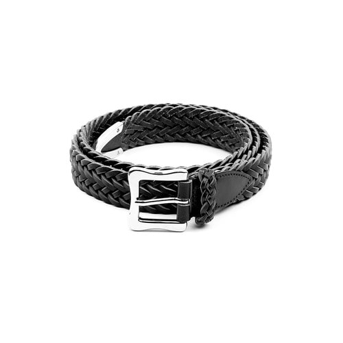 Black Small Weaving Belt