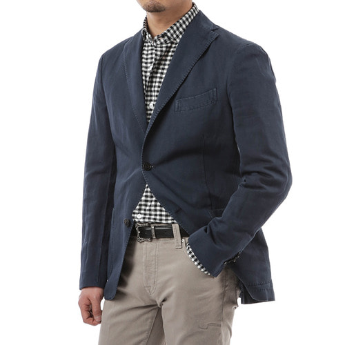 Navy Cotton Britton Jacket
