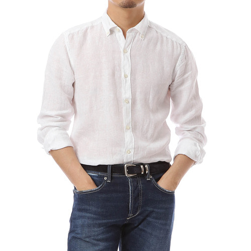 Button Down White Linen Shirts