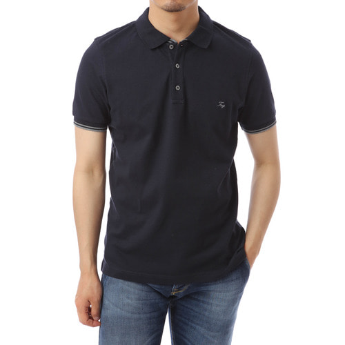 Merito Single Navy Pique Shirts