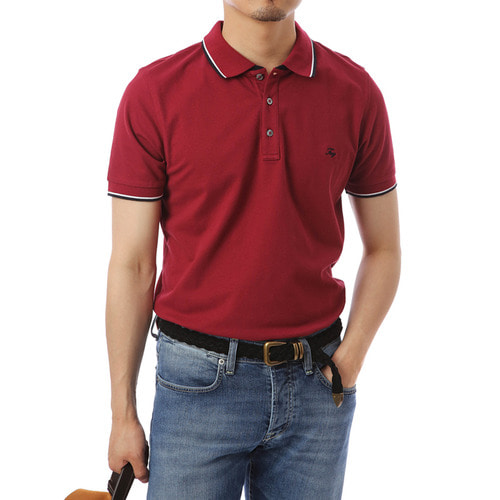 Linea Single Burgundy Pique Shirts