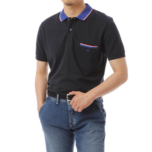 Liberta Pocket Navy Pique Shirts