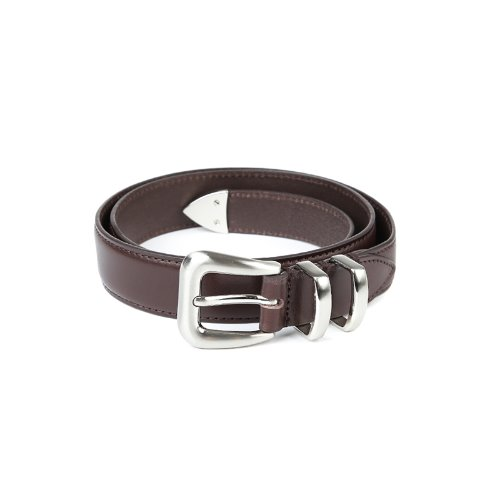 Silver Stuck-up Brown Leather Belt