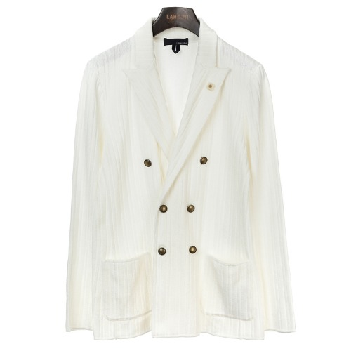 White Double Sensual Knit Jacket