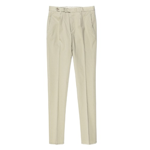 BYRON. One Pleats Belted Chino Pants (Beige)
