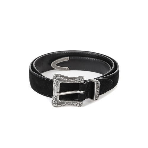 Black Single Suede Belt