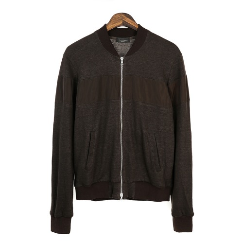 Sportivo Knit Line-up Brown Jacket
