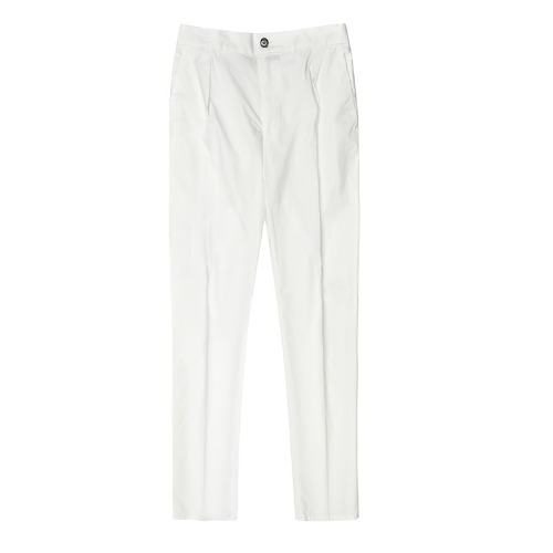 DAVIDE.  String Casual White Pants