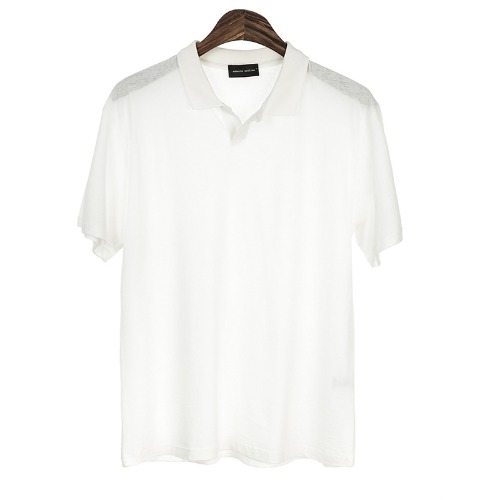 UNSCREW. Buttonless Pique Shirts(White)