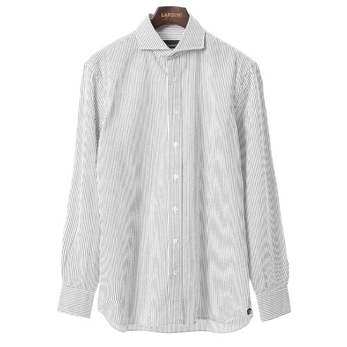 Compact Grey Stripe Cotton Shirts
