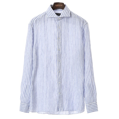 Stout Blue Stripe Linen Shirts