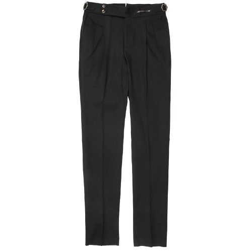 Gentleman Fit. SuperFine Two Pleats Pants(Black)