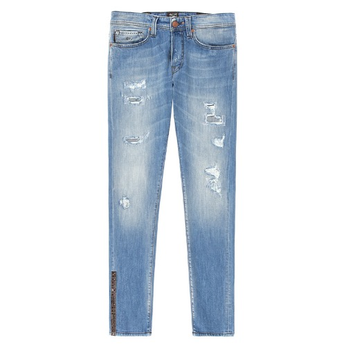 HERITAGE.9E08 Destroyed Light Blue Jeans(19-80)