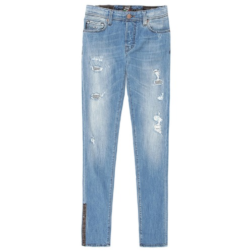 Vintage. .9E08 Destroyed Light Blue Jeans(Leonardo)