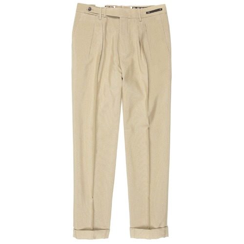 Carrot Fit. SuperFine Belt-up Pants(Beige)