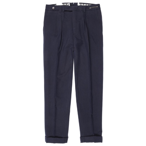 Carrot Fit. SuperFine Belt-up Pants(Navy)