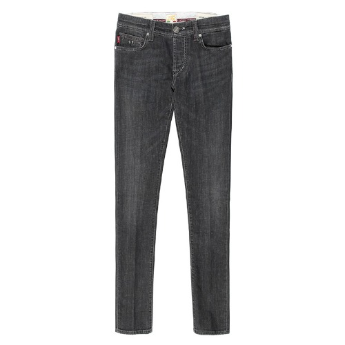 24.7 .6moons Super Stretch Black Gray Jeans(Giotto)