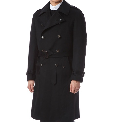 Double-breasted Camel Trench Coat - Lardini Sartoria