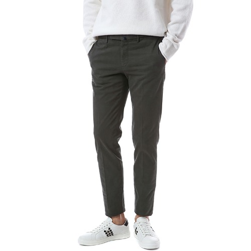 Pattern 82. Tapered Comfort Chino Pants (Charcoal)