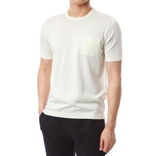 Viscosa Pocket Simple Knit (Ivory)