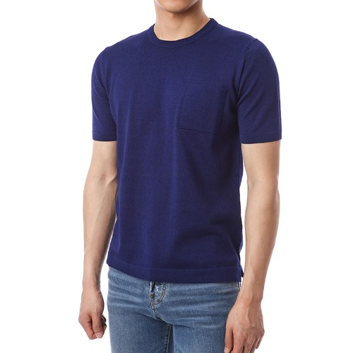 Viscosa Pocket Simple Knit (DarkBlue)