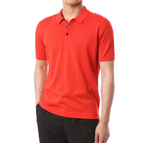 Simple Viscosa Button-up Pique Shirts (Red)