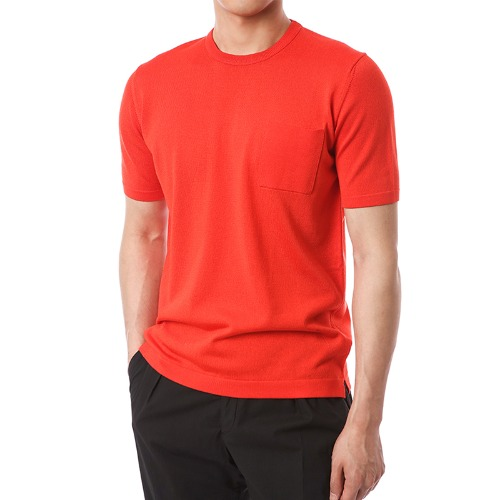 Viscosa Pocket Simple Knit (Red)