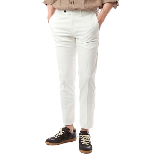 Connection. Superslim fit. Washed Chino Pants (White)